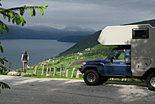 Allradwohnmobil in Norwegen